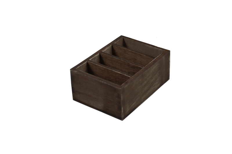 condiment box ohne deckel holz gebeizt sfp lederartikel f r hotellerie und gastronomie. Black Bedroom Furniture Sets. Home Design Ideas