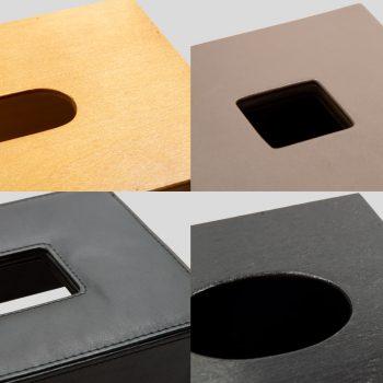 taschentuchbox-holz-leder